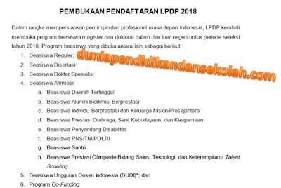 Pembukaan, Jadwal, Dan Tempat Seleksi Beasiswa Lpdp Magister Dan Doktoral Tahun 2018