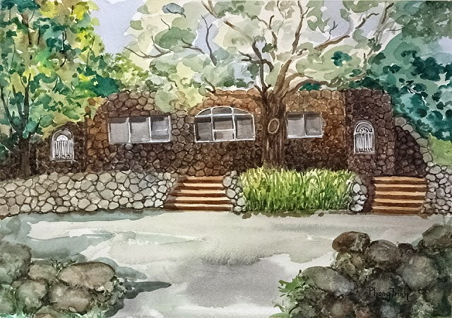 Watercolor Paintings Of  Sq Ft Homes