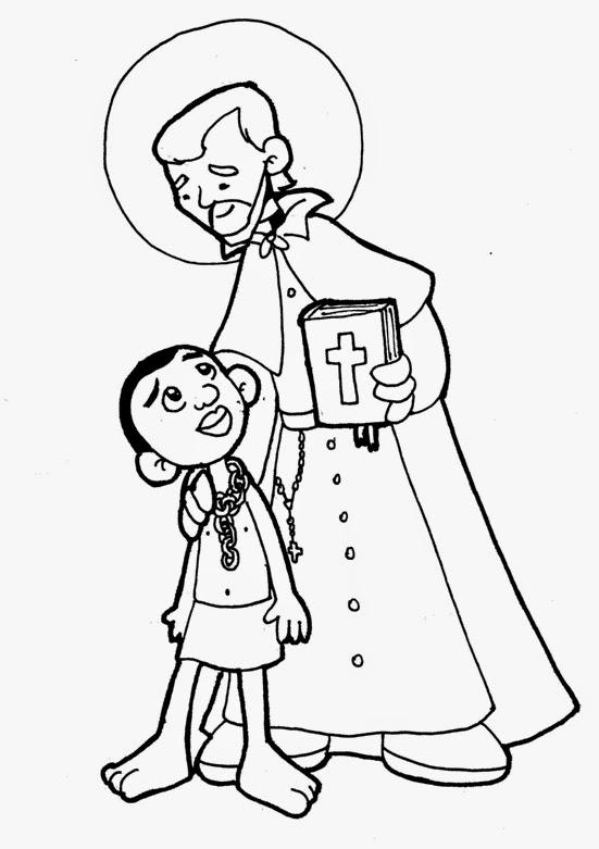 Santoral Catolico Virgen Y Santos Para Colorear