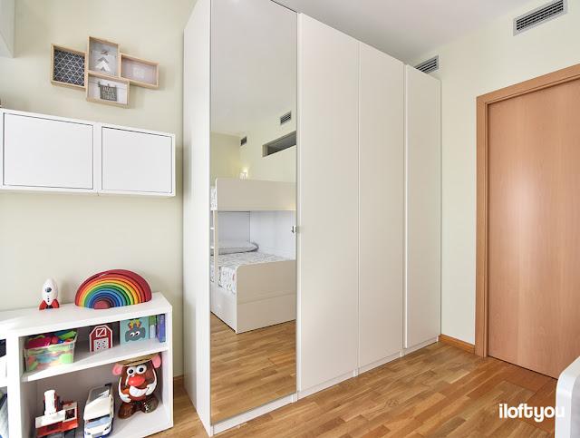 Un dormitorio perfecto para tres hermanos