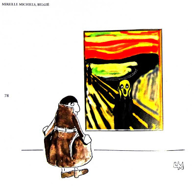 The Scream cartoon by Mireille Michiels, Belgium