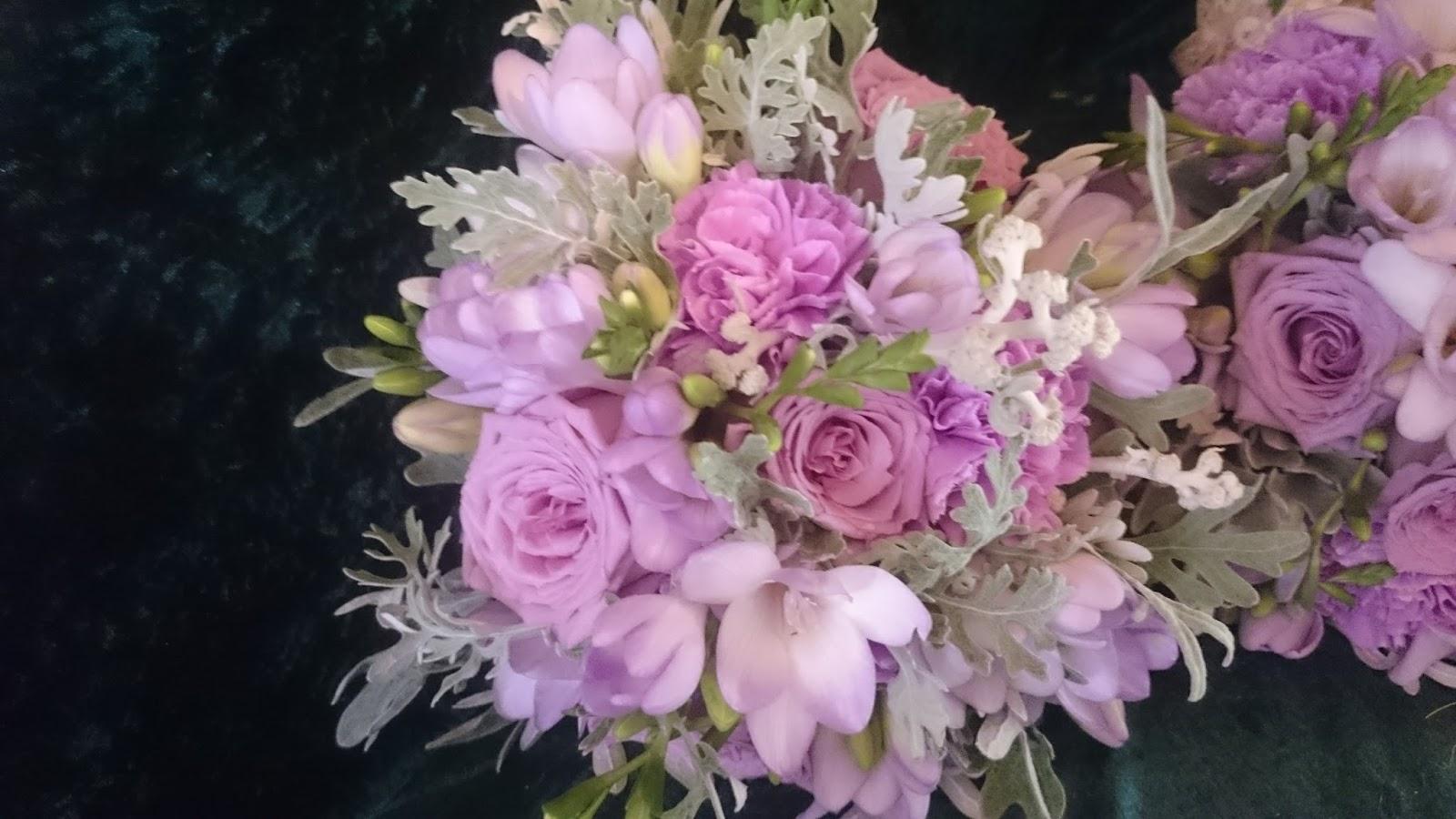 Sandra's Flower Studio: Purple And Lilac Wedding Flowers