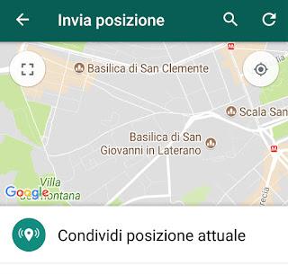 localizzatore gps whatsapp