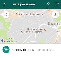 Inviare la posizione su WhatsApp anche in tempo reale