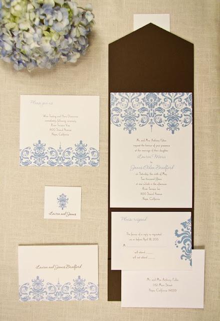Las invitaciones de boda estilo damasco - Foto: www.yourinvitationplace.com