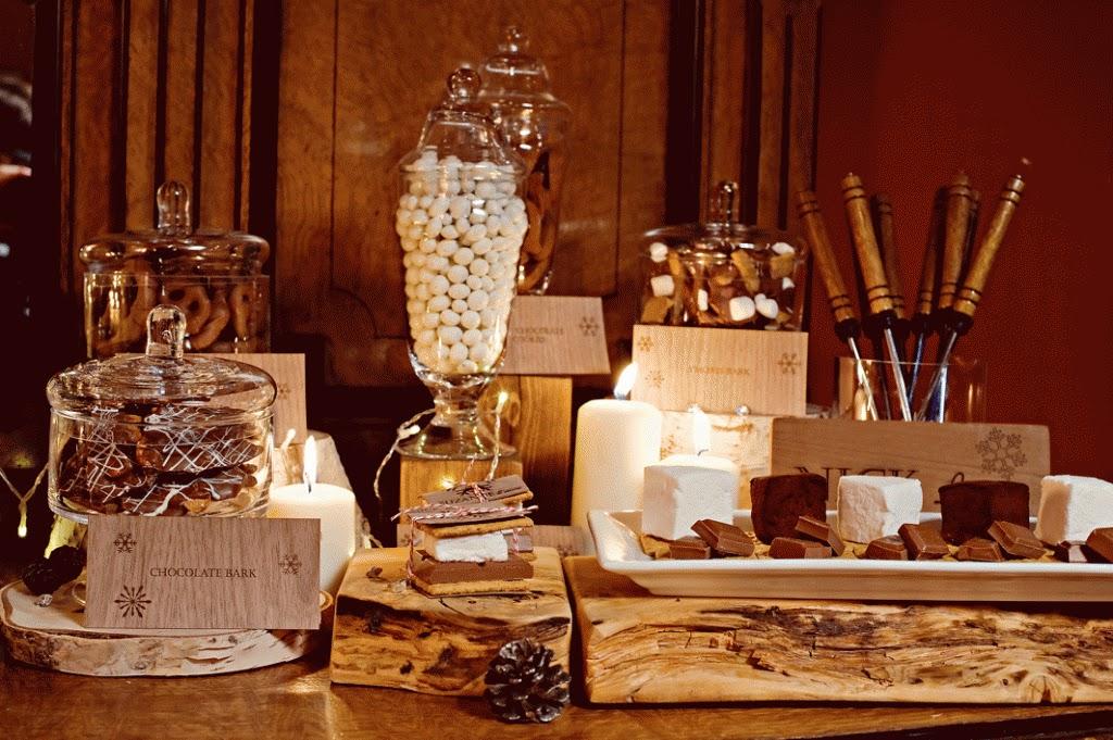 Coffee Bar Wedding Reception Rustic