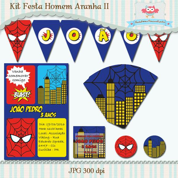 festa, infantil, Homem Aranha, Spider Man, personalizados, bandeirolas, convite, cone, guloseimas, kit digital, tag, arte, digital, topper, rótulo, rótulos, badaboom