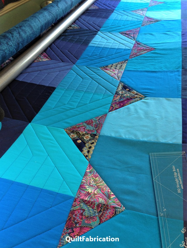 quilting progress on Summer Ocean