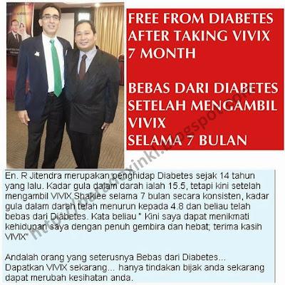 vivix shaklee - diabetes - kencing manis