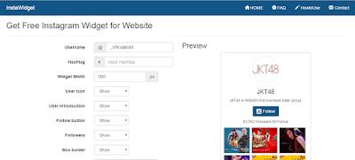 Tutorial : Widget Instagram dalam Blog