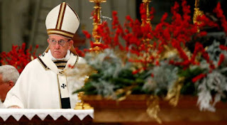 Merry Christmas but remember, the Pope says it's not about consumerism