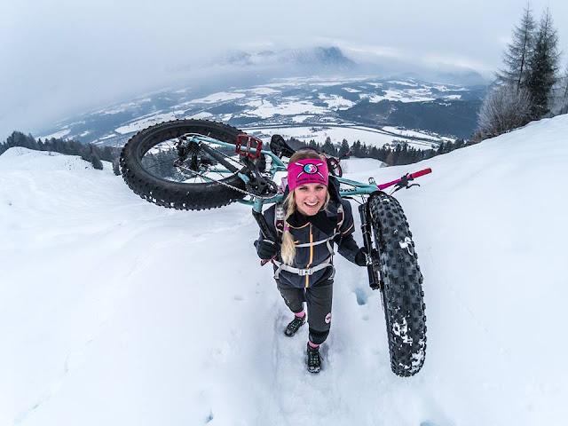 Mountainbiken im Schnee