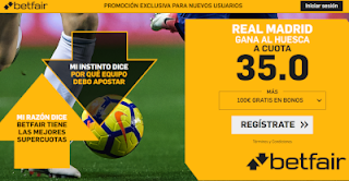 betfair supercuota Real Madrid gana Huesca 9-12-2018