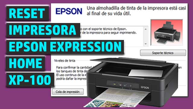 Reset impresora EPSON Expression Home XP-100