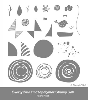 Swirly Bird Photopolymer Stamp set