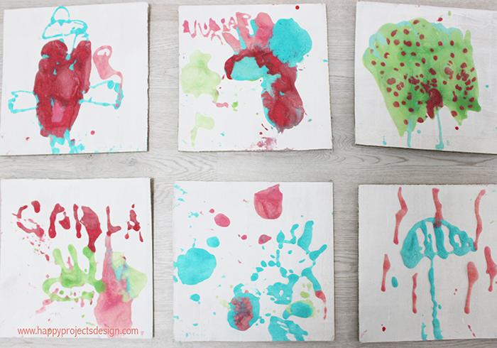Pintura en relieve DIY