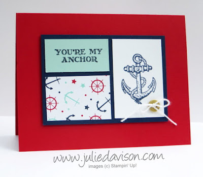 Stampin' Up! Guy Greetings Nautical Masculine Card for #PSC08 #stampinup www.juliedavison.com