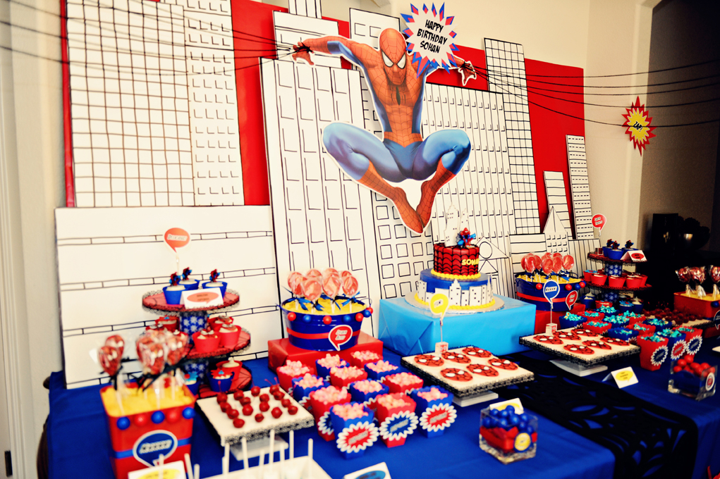 The Party Wall Spiderman Birthday Party Part 1 2 As & Spiderman Birthday Decorations Ideas - Elitflat