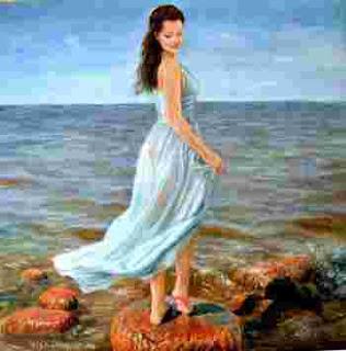 Комбинация индийской и западной живописи. Vishalandra Dakur