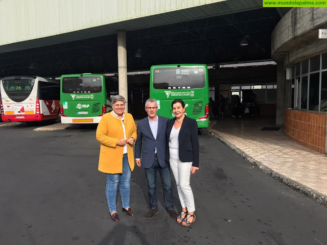 La Consejería de Obras Públicas, Transportes y Vivienda agilizará la cesión al Cabildo de La Palma de la estación de guaguas de Los Llanos de Aridane