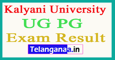 Kalyani University UG PG Exam Results
