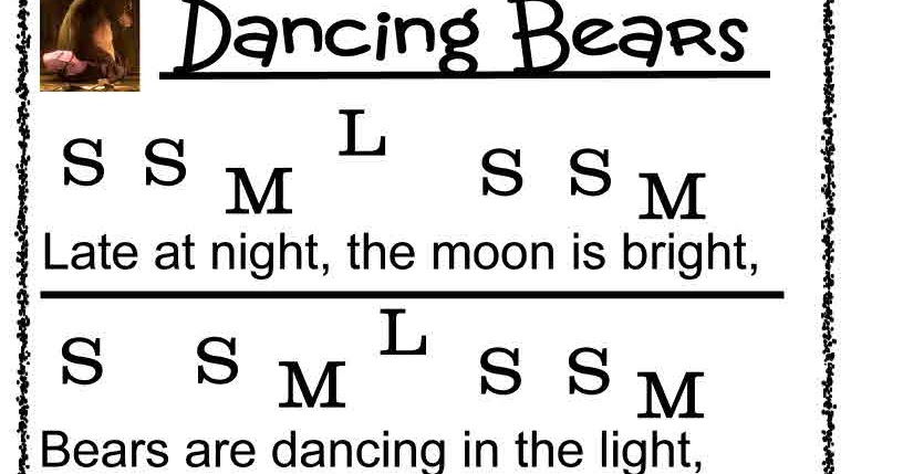 O For Tuna Orff: Dancing Bears Song