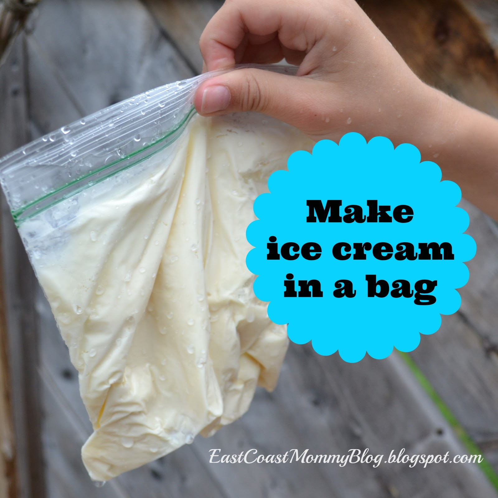 East coast mommy making ice cream in a bag youll need big ziploc bags small ziploc bags salt ice sugar vanilla and coffee cream 18 ccuart Gallery
