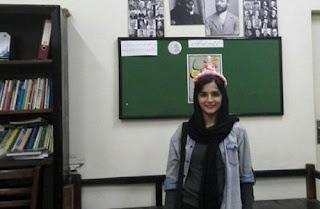 لیلا حسینزاده  دانشجوی علوم اجتماعی از دانشگاه علامه طباطبایی تهران