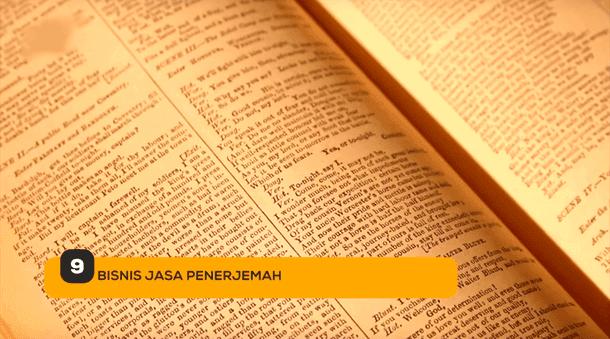 9. Bisnis Jasa Penerjemah