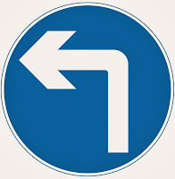 Left Hand Turn Ahead Sign