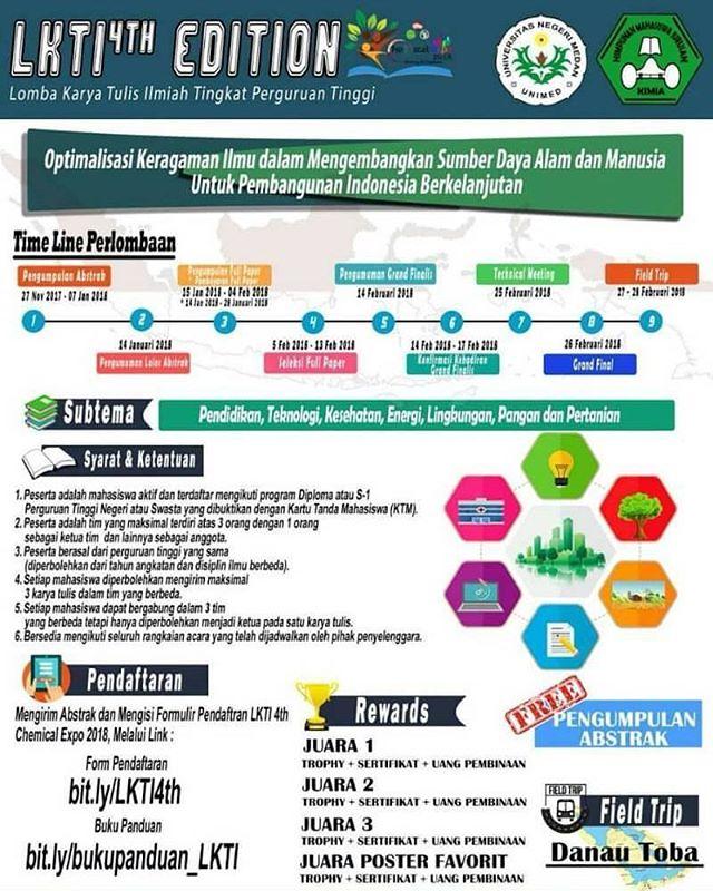 Lomba Karya Tulis Ilmiah Nasional (LKTI) 4th Edition 2018 Untuk Mahasiswa