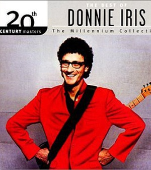 Photo of Donnie Iris on the album cover for THE BEST OF DONNIE IRIS.
