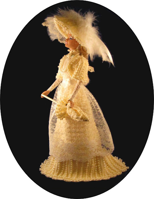 Barbie Crochet Victorian Era Beaded Dress