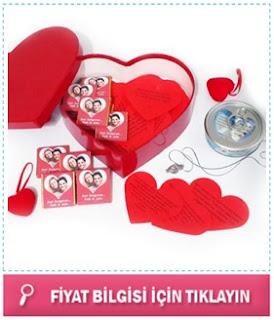 sevgiliye kalpli kartlar hediye sepeti