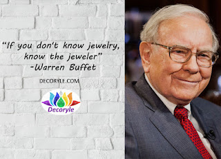 Warren Buffet Jewellery Quote