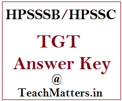 image : HPSSSB TGT Answer Key 2019 - Arts, Medical, Non-Medical @ TeachMatters