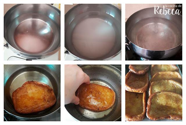 Receta de torrijas de leche: el baño de almíbar