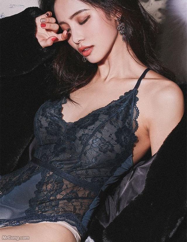 Image Korean-Model-Ju-Woo-012018-MrCong.com-005 in post Người đẹp Ju Woo trong bộ ảnh nội y tháng 01/2018 (50 ảnh)
