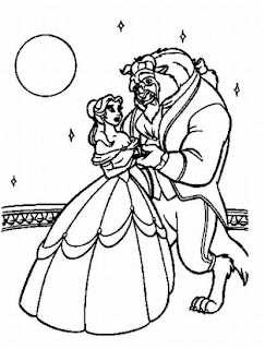 Princess Belle Beauty and The Beast Coloring Pages ...