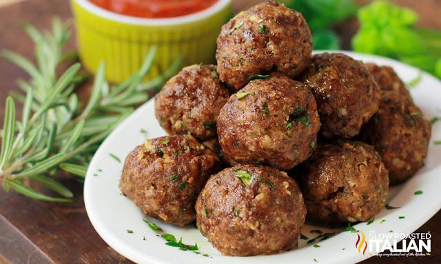Best Ever Italian Herb Baked Meatballs