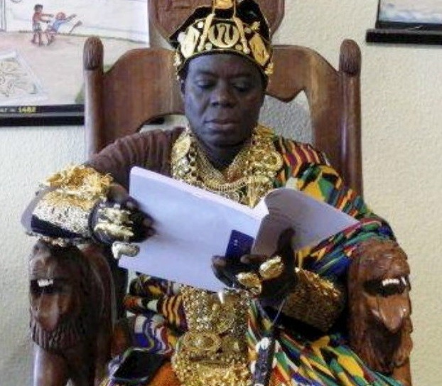 Photos: Ghanaian king who rules his people via Skype in southern Germany builds a jail for women in the town