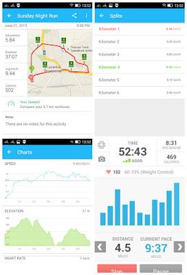 Runkeeper ти дава възможност да следиш различни показатели в реално време