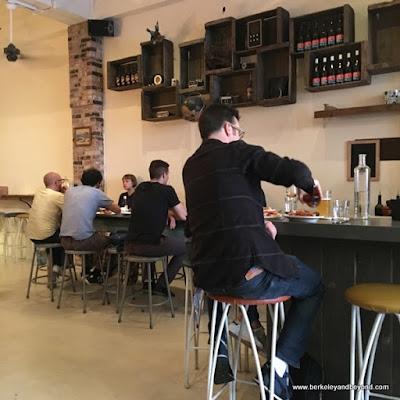 bar seating at Lucia's Pizzeria in Berkeley, California