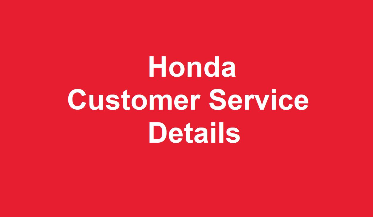 Honda Customer Service Number >> Honda Customer Service Number
