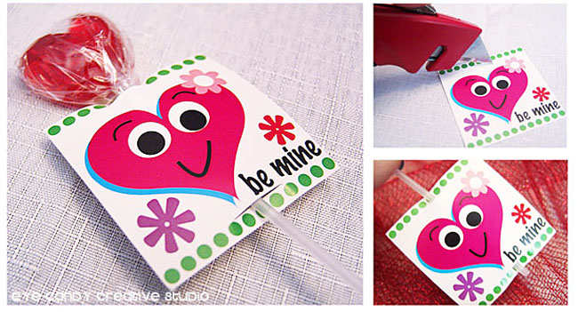 lollipop valentine holder, kids valentines ideas, valentines party ideas