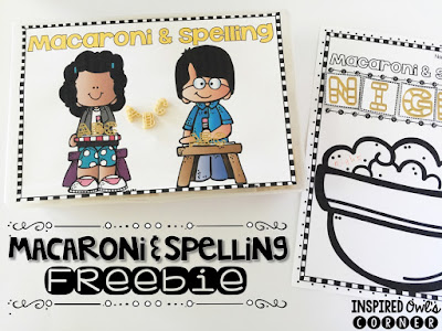 FREEBIE Macaroni and Spelling Activity