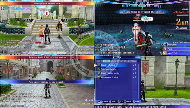 Sword Art Online Infinity Moemnt ISO English Patch + DLC