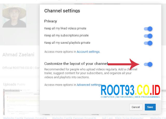 Mengatur Halaman Depan Channel Youtube 2