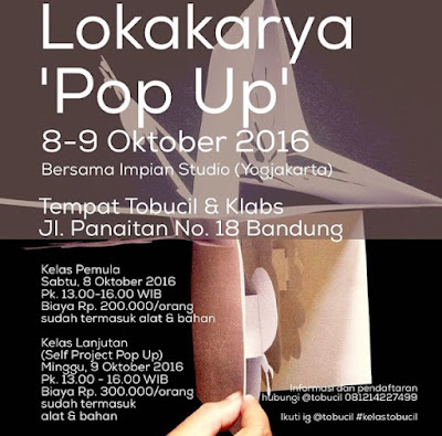 Lokakarya 'Pop Up' Bersama Impian Studio, 8-9 Oktober 2016