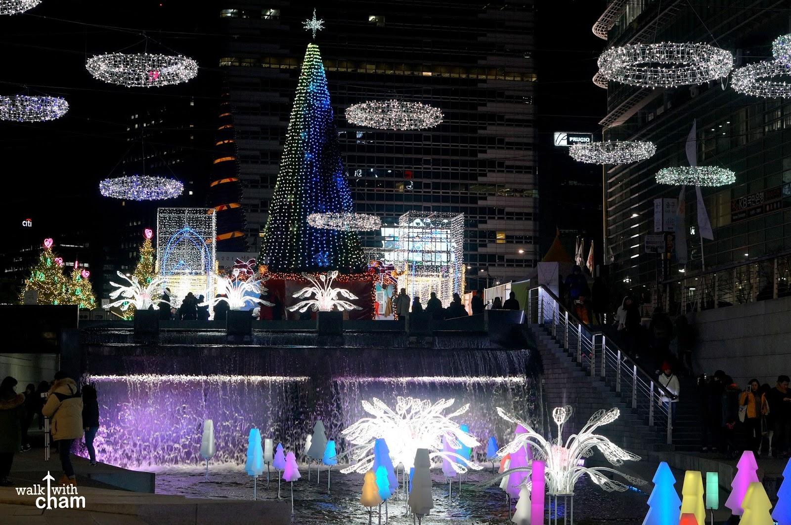 Walk With Cham Cheonggyecheon Stream Seoul Christmas